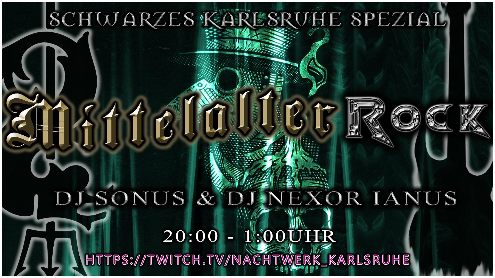 Schwarzes Karlsruhe Spezial - Mittelalter - Rock Live Stream Edition