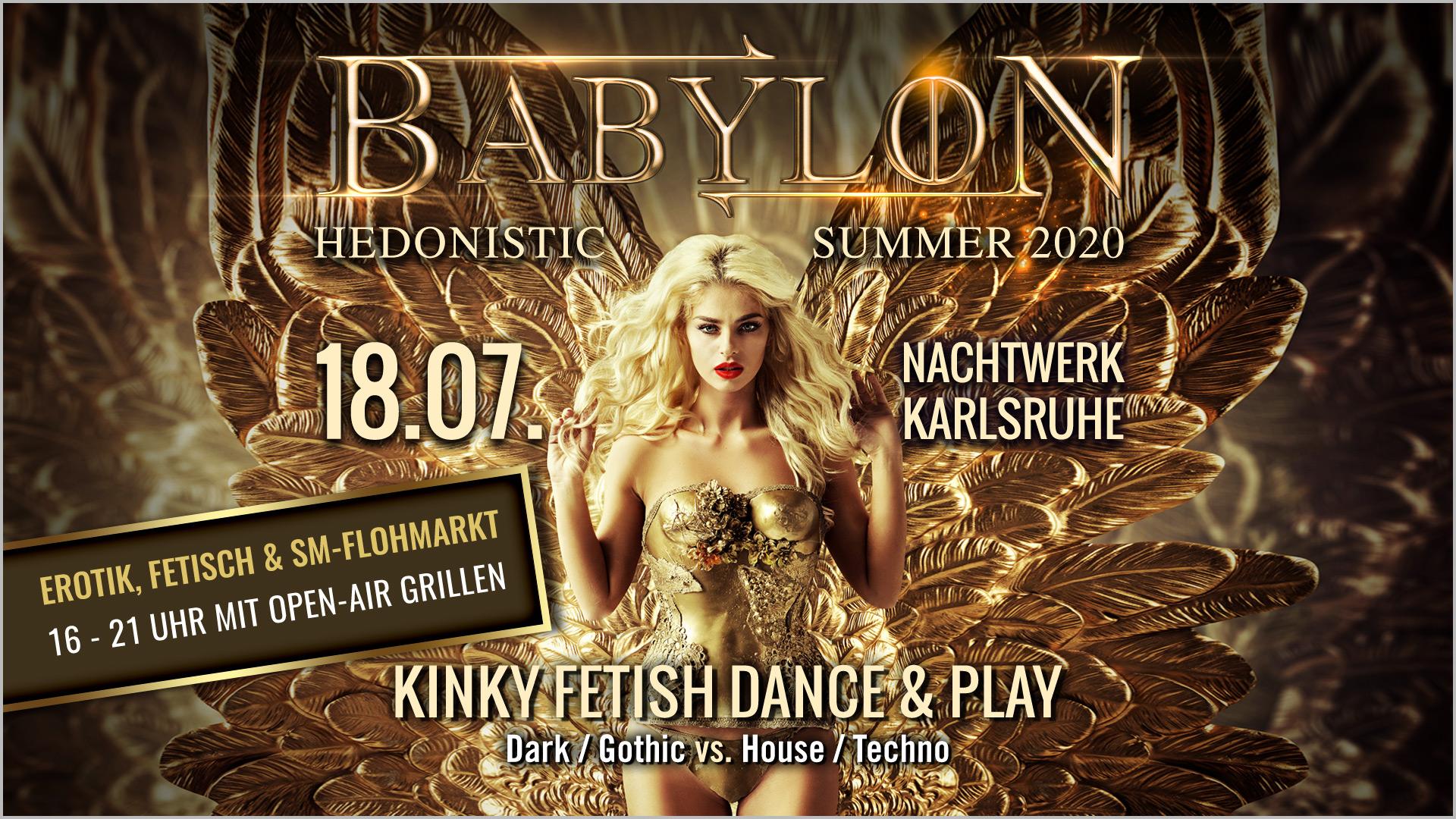 BABYBLON » Die hedonistische Kinky Fetish Dance & Play-Party in Karlsruhe mit DJ Gillian und DJ Andrew Clark. Dark/Gothic meets House/Techno. Mit Erotik, Fetisch & SM-Flohmarkt vor der Party.