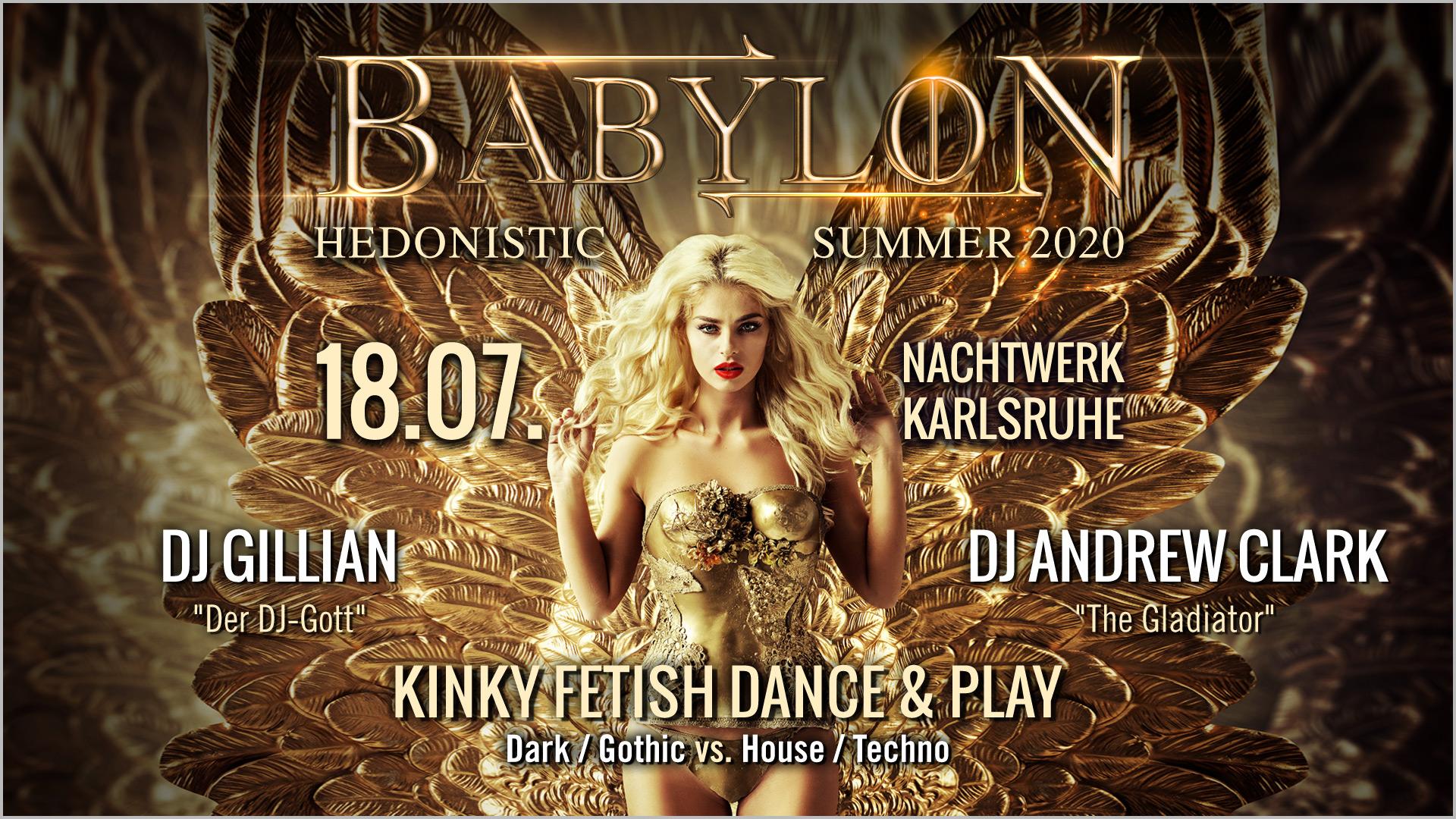 BABYBLON » Die hedonistische Kinky Fetish Dance & Play-Party in Karlsruhe mit DJ Gillian und DJ Andrew Clark. Dark/Gothic meets House/Techno.