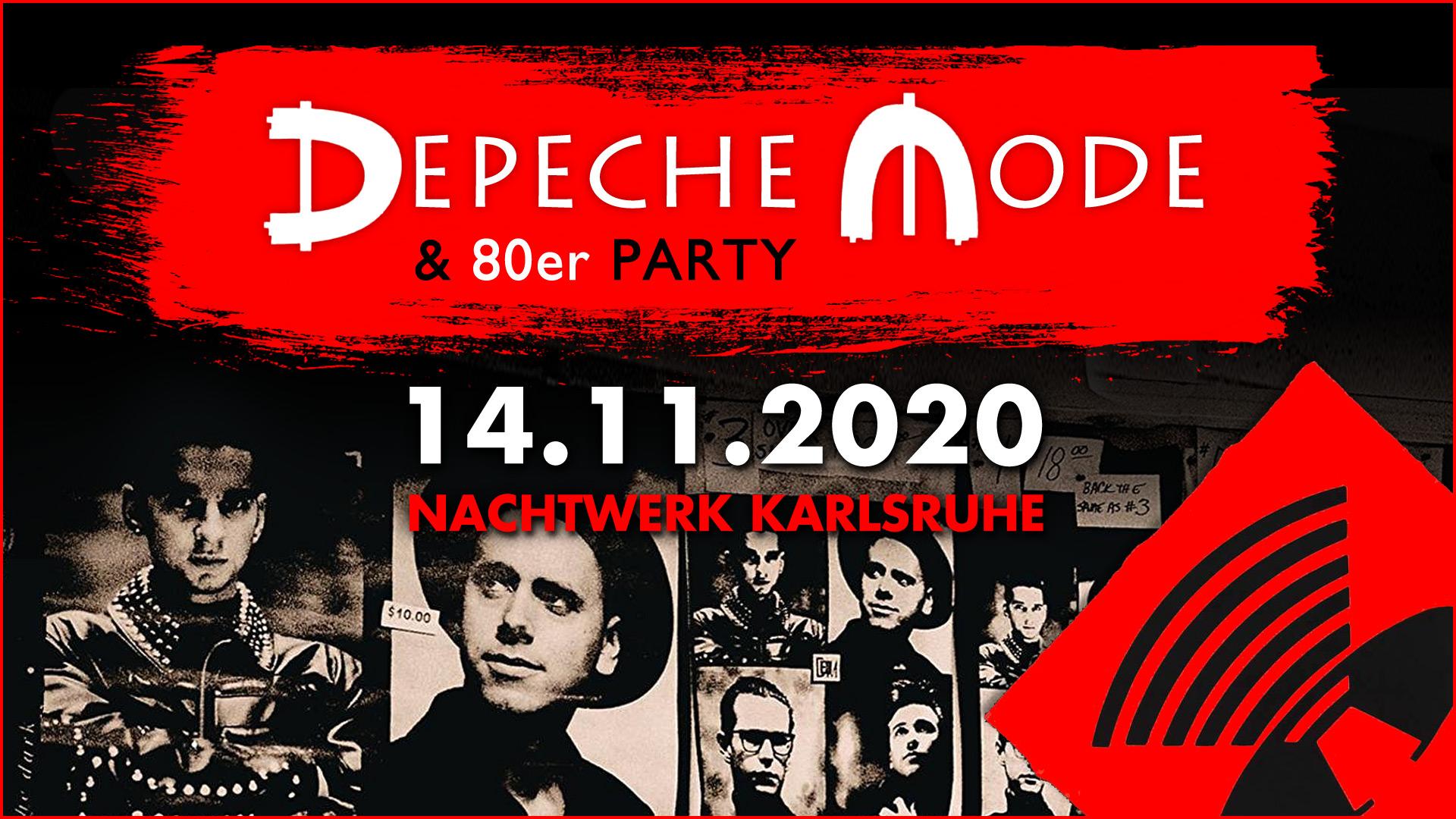 Die Depeche Mode & 80er Party im Nachtwerk Karlsruhe mit DJ Gillian. Die großartigen Songs von Depeche Mode, die kultigsten Hits aus den 80ern und die beliebtesten Pop & Wave Klassiker.