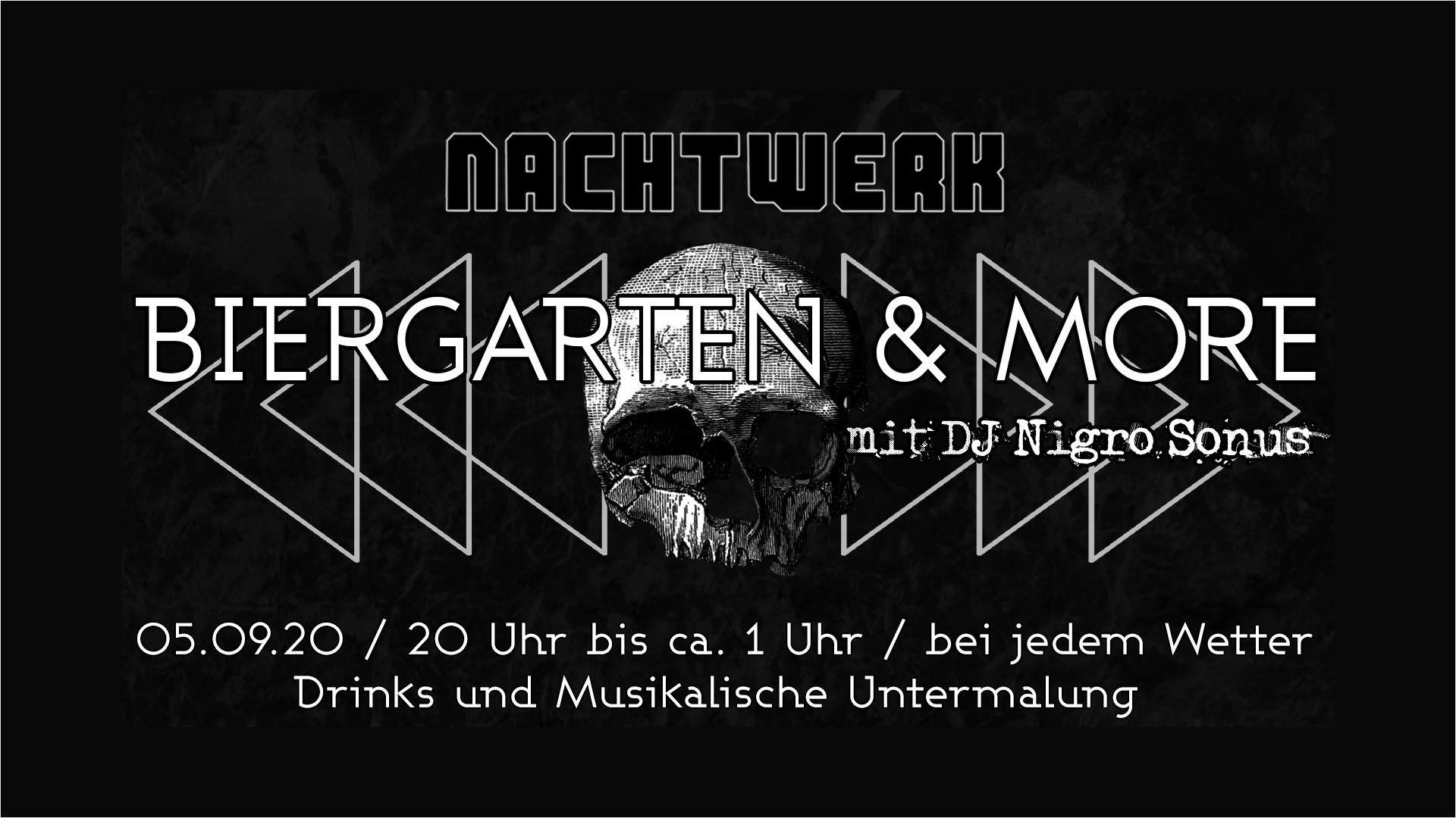 Biergarten & more im Nachtwerk Karlsruhe. Leckere Drinks und musikalische Untermalung.