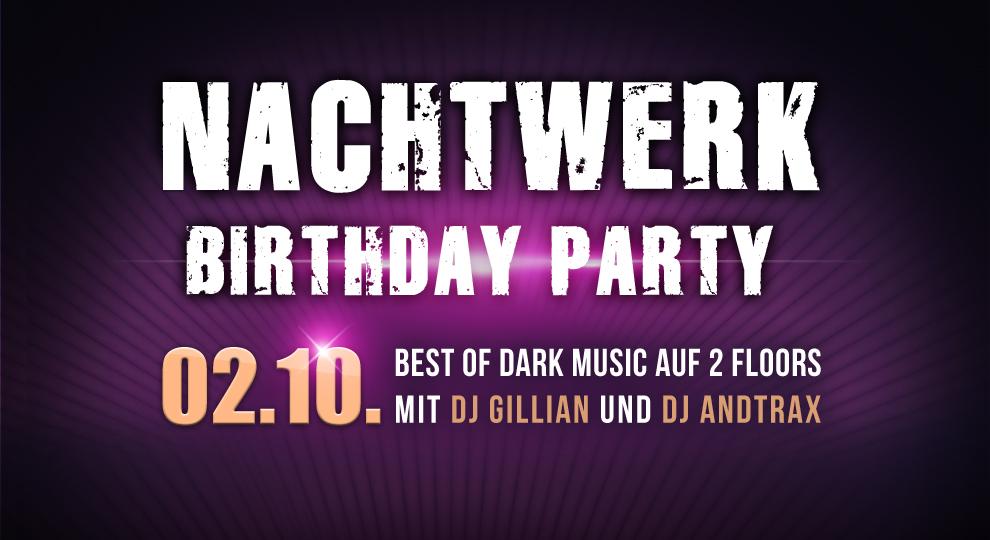 Nachtwerk Birthday Party Nachtwerk Musikclub