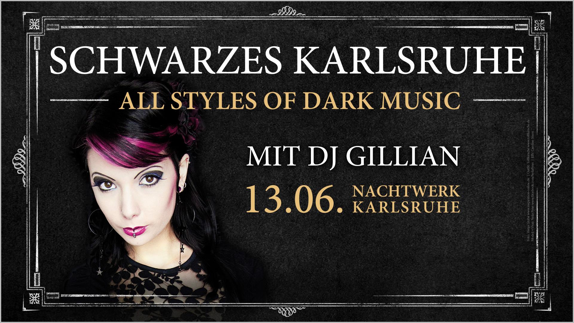 Schwarzes Karlsruhe » Best od Dark Music mit DJ Gillian im Nachtwerk Karlsruhe. Gothic, Wave, Dark Electro, Depeche Mode, 80er, Classics, Mittelalter, Neue Deutsche Härte, Industrial, Synthi-Pop, Future-Pop, EBM,...