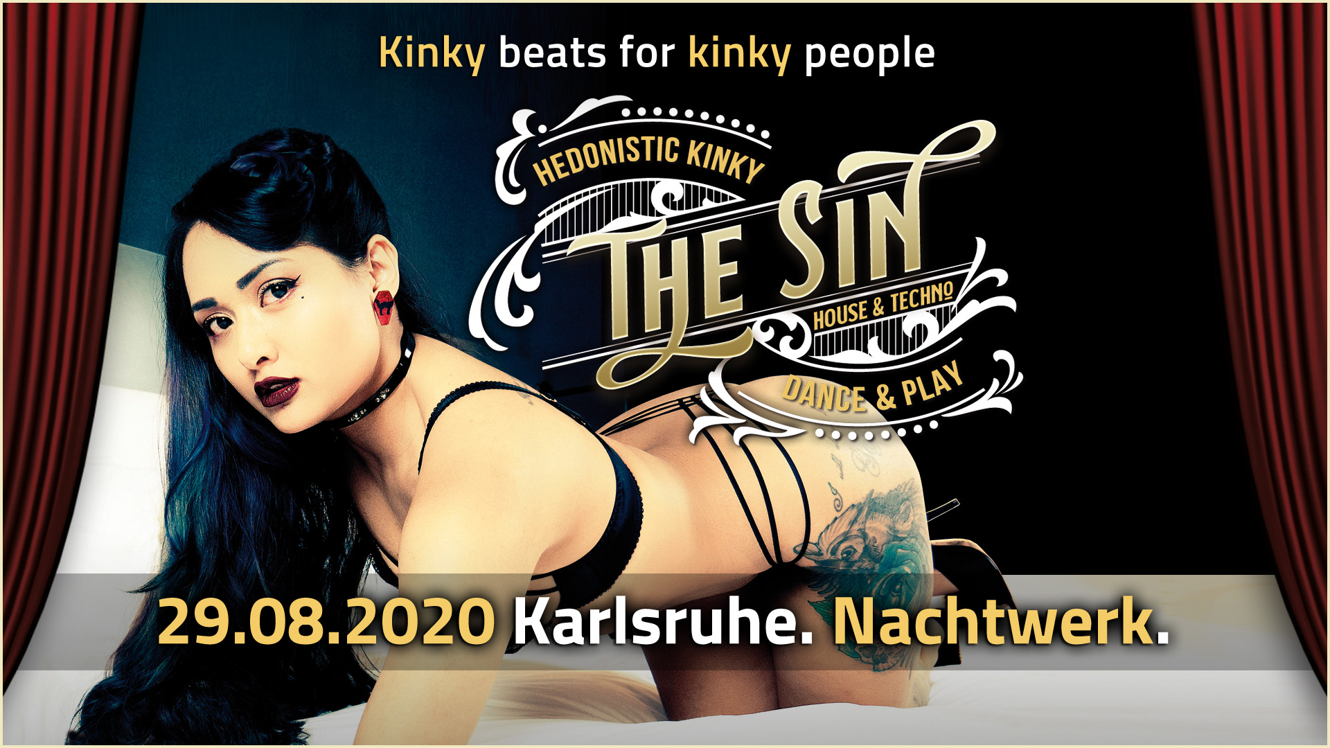 THE SIN » Die sündige hedonistische Kinky House & Techno Dance & Play-Party in Karlsruhe. Kinky beats für kinky people.